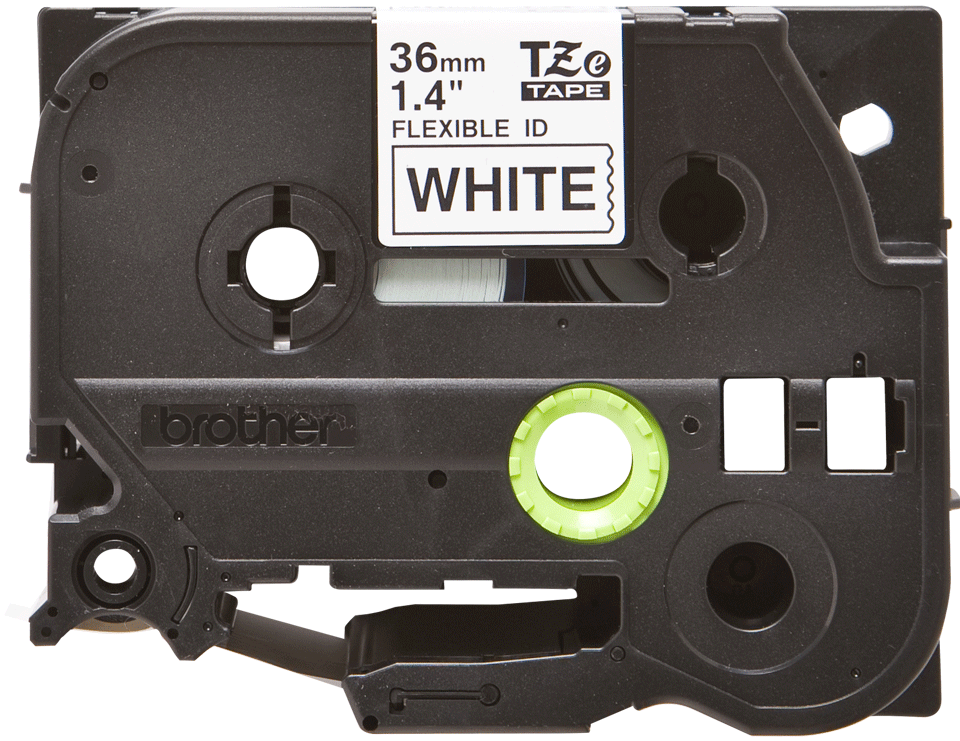 Genuine Brother TZe-FX261 Labelling Tape Cassette – Black on White, 36mm wide