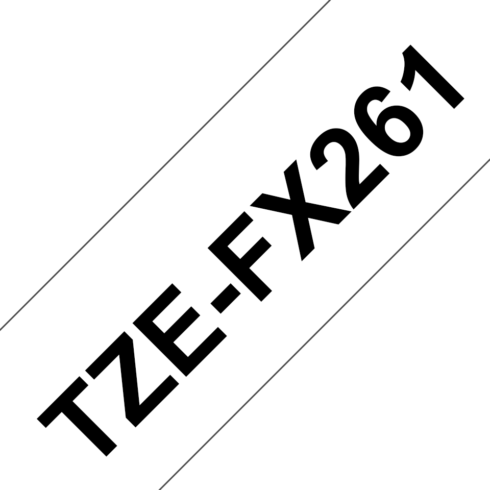 Genuine Brother TZe-FX261 Labelling Tape Cassette – Black on White, 36mm wide 3