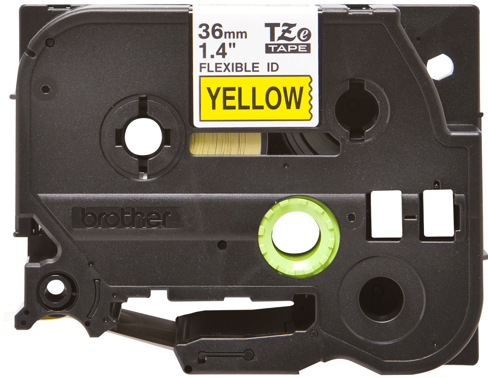 Genuine Brother TZe-FX661 Labelling Tape Cassette – Black on Yellow, 36mm wide