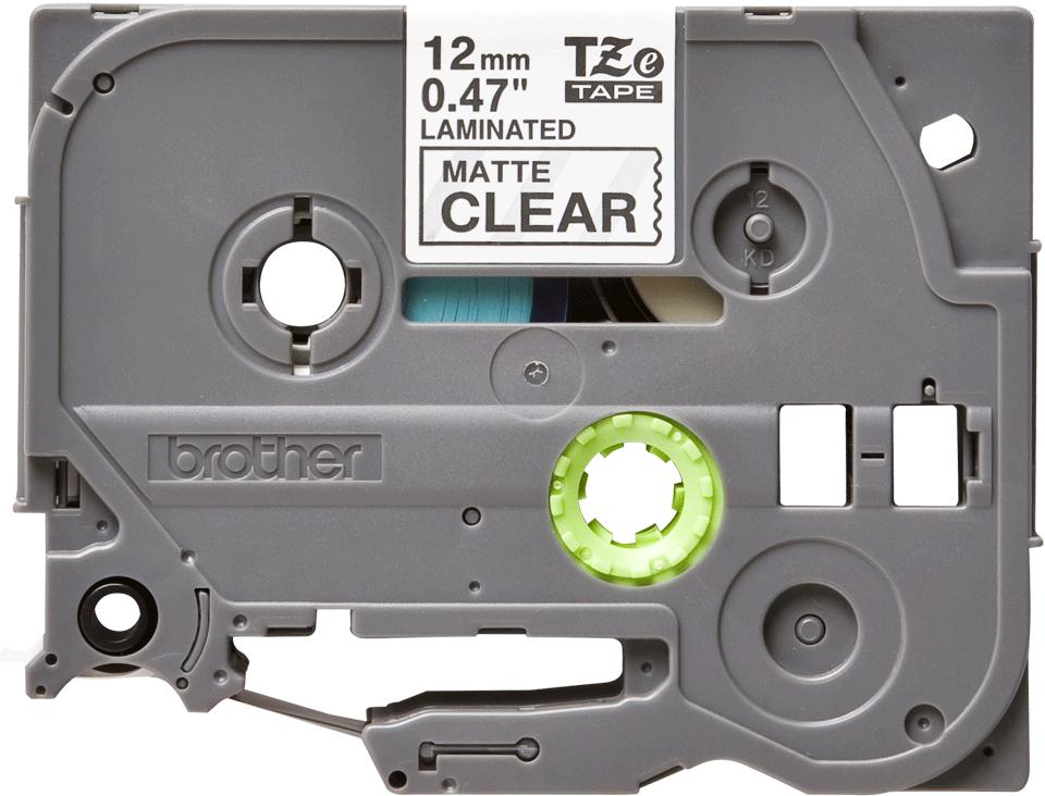 Genuine Brother TZe-M31 Labelling Tape Cassette – Black on Clear Matt Tape, 12mm wide