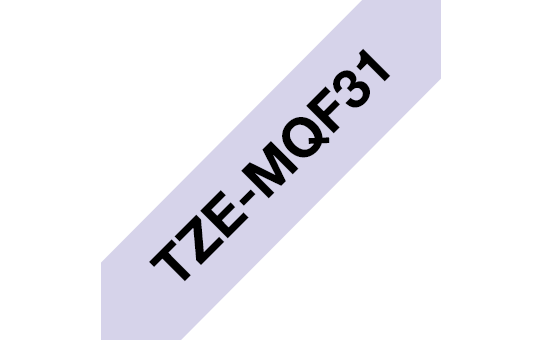 Genuine Brother TZe-MQF31 Labelling Tape Cassette – Black on Pastel Purple, 12mm wide 3