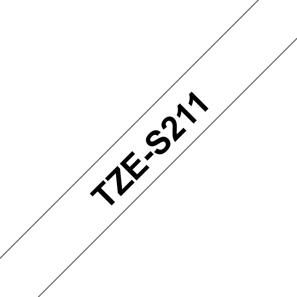 Genuine Brother TZe-S211 Labelling Tape Cassette – Black on White, 6mm wide 3